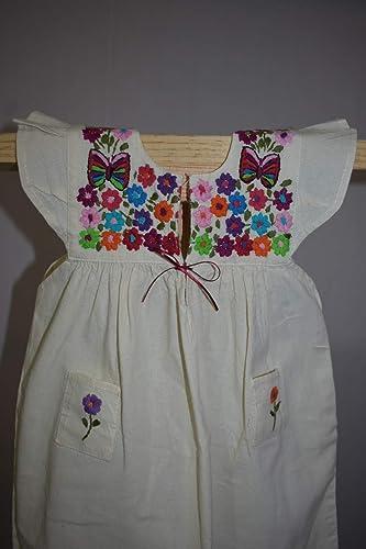 Vestido De Manta Con Bordado Floral Bebé Amazoncommx
