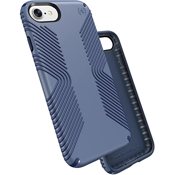 pretty nice 1acb6 1e84f Speck Products Presidio Grip Cell Phone Case for iPhone 7 - Twilight  Blue/Marine Blue