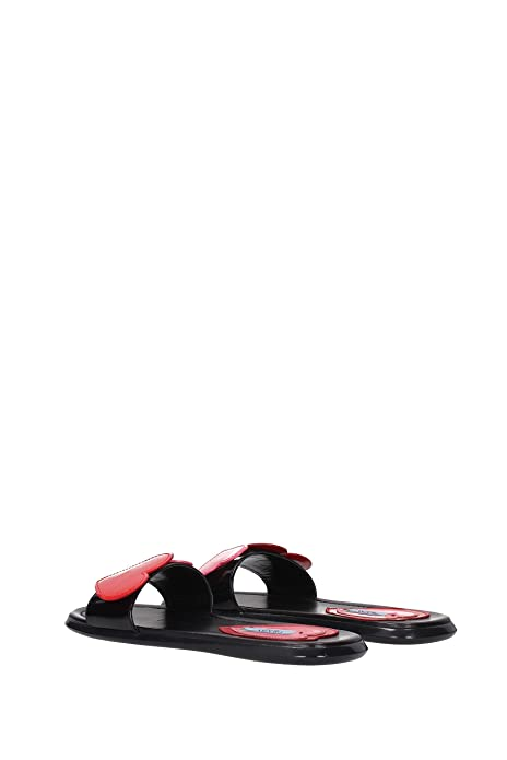 ae3a856c2fd Prada Slippers and Clogs Women - Patent Leather (1XX312) UK  Amazon.co.uk   Shoes   Bags