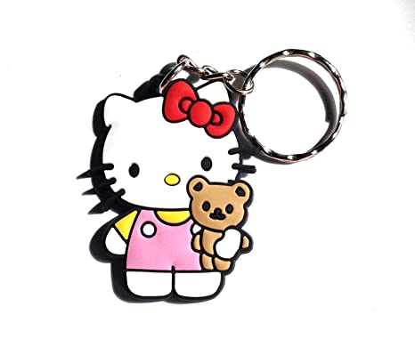 Llavero de PVC con diseño de Hello Kitty de Kawaii: Amazon ...