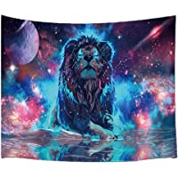 BJYHIYH Lion Animal Tapestry Trippy Space Tapestries Colorful Galaxy Wall Tapestry Bedroom Living Room Dorm Home Decor…