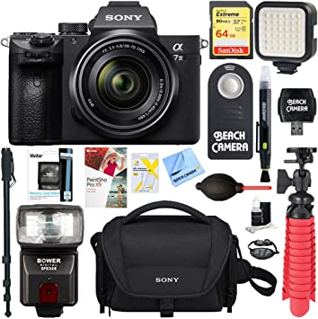 Sony Alpha A7s High Grade Multi-Coated Made by Optics Nw Direct Microfiber Cleaning Cloth. Multi-Threaded 3 Piece Lens Filter Kit 49mm