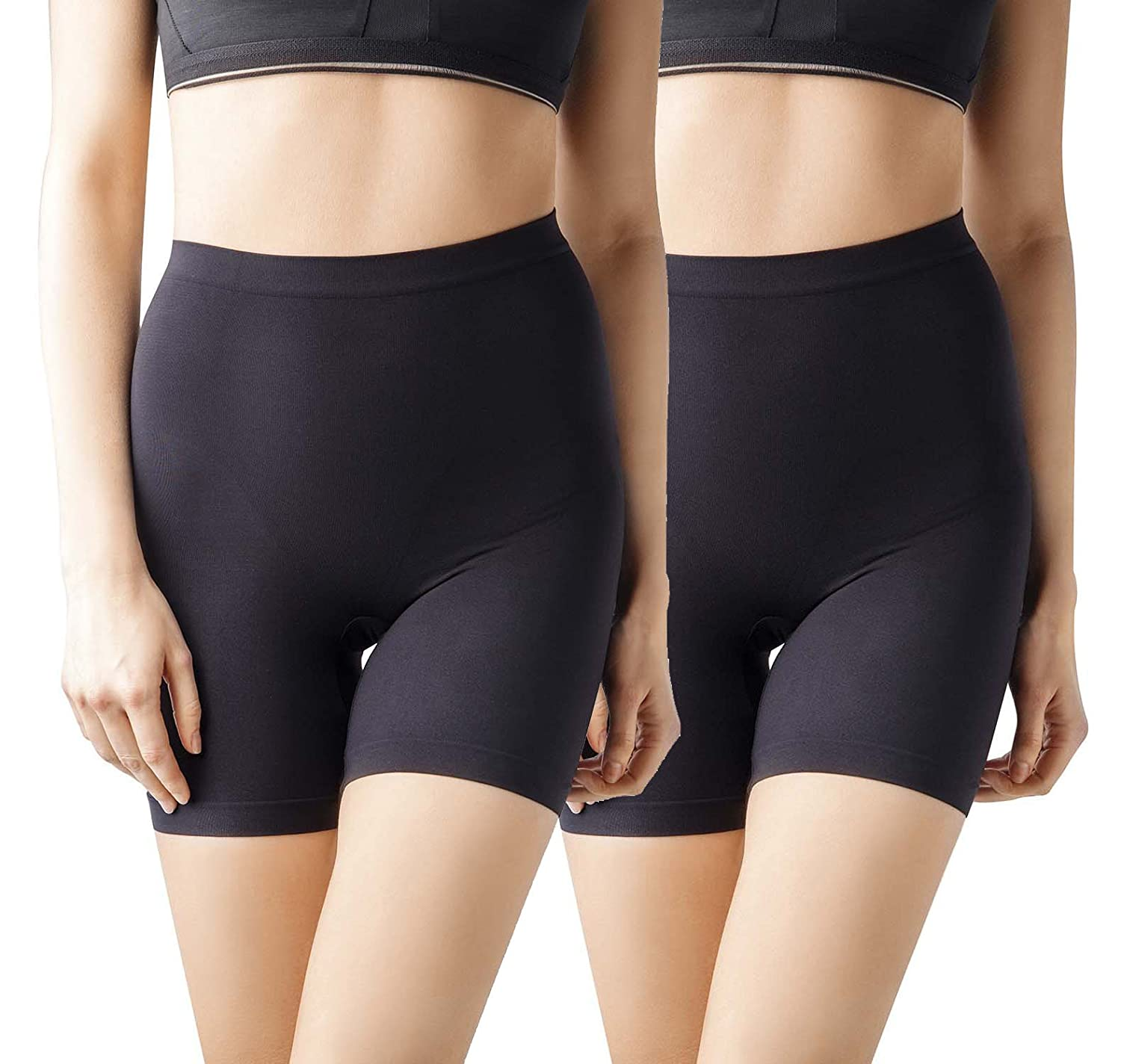 2289e037b9780 MD Women s Seamless Shapewear Mid Thigh Tummy Shaper Slimmer Power Shorts   Amazon.co.uk  Clothing
