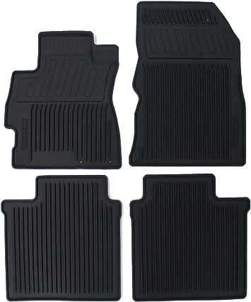 Set of 4 Nissan Genuine Accessories 999E1-GU001BK All Season Floor Mat,