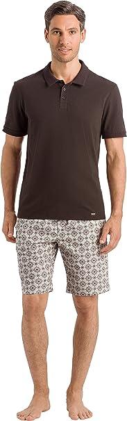 HANRO Mens Aldo Short Sleeve Polo Shirt,