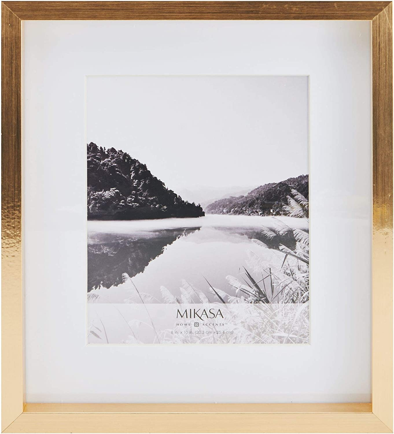 MIKASA Matted Picture Frame, 8x10 Inch, Gold