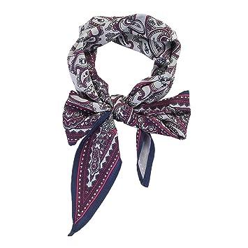cb671c560 Amazon.com : Spring Women Scarf Ponytail Hair Rope Flower/Plaid Print Hair  Bow Scrunchies Leopard Headbands Bandana Headkerchief, Style 6 : Beauty