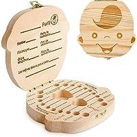 GeekerChip Bebé Dientes Caja(Niño),Caja de Madera para Guardar
