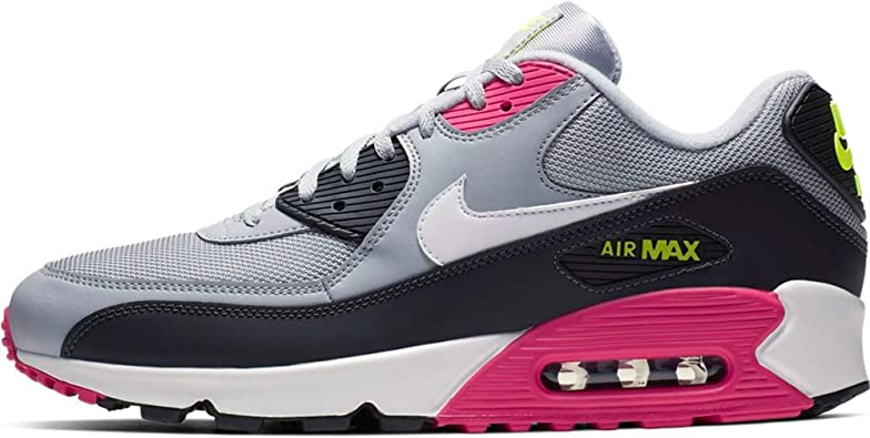 Amazon.com: Nike Air Max 90 Essential Hombres Zapatos Wolf ...