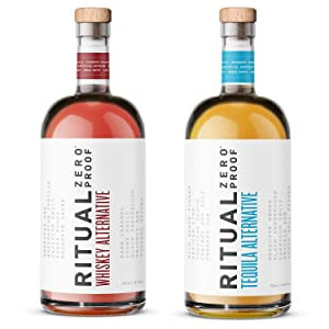 RITUAL ZERO PROOF Tequila & Whiskey Alternatives | Award-Winning Non-Alcoholic Spirits | 25.4 Fl Oz (750ml) Each | Low & No Calories | Keto, Paleo & Low Carb Diet Friendly | Alcohol Free Cocktails