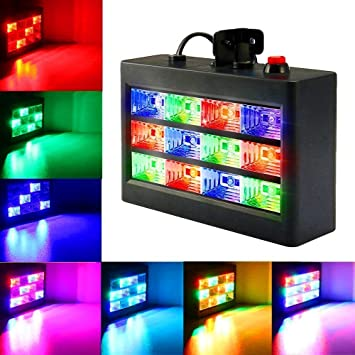 Lightess 12 LED Disco Lights Music Strobe Light Background RGB Flashing  Stage Lights Hanging Lighting For