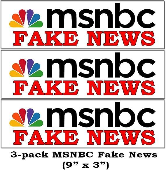 Amazon.com: BigEasyStores 3-Pack MSNBC Fake News Funny Bumper ...