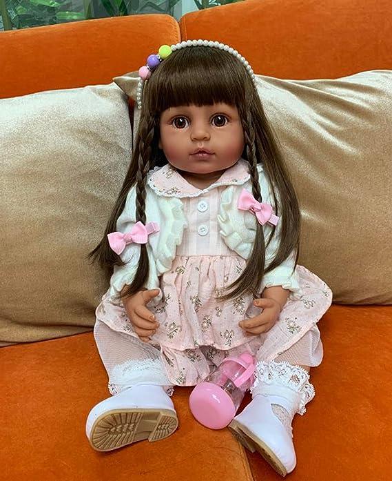 "Reborn Baby Doll Black African American 22/"" Ethnic Biracial Newborn Boy Girl Toy"
