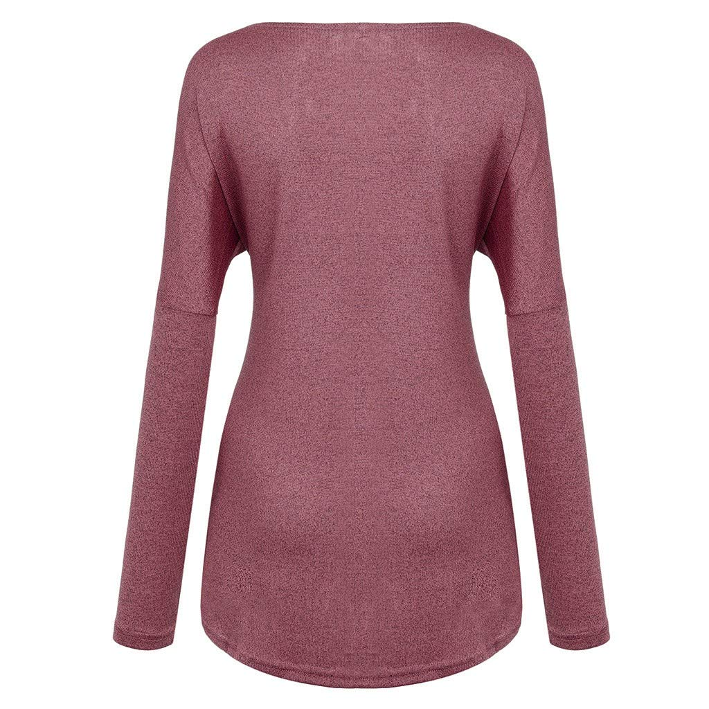Long Sleeves Casual Winter Warm Fashion Lace Stitching Asymmetry Solid Round Neck T-Shirts Tops UOKNICE Womens Blouses