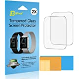 JETech Screen Protector for Apple Watch 42mm Serial 1 2 3 Tempered Glass 2-Pack