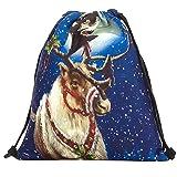 Yvelands Sacchetto regalo di caramelle di Natale Zaino con sacchetti di Babbo Natale pupazzo di neve tascabile