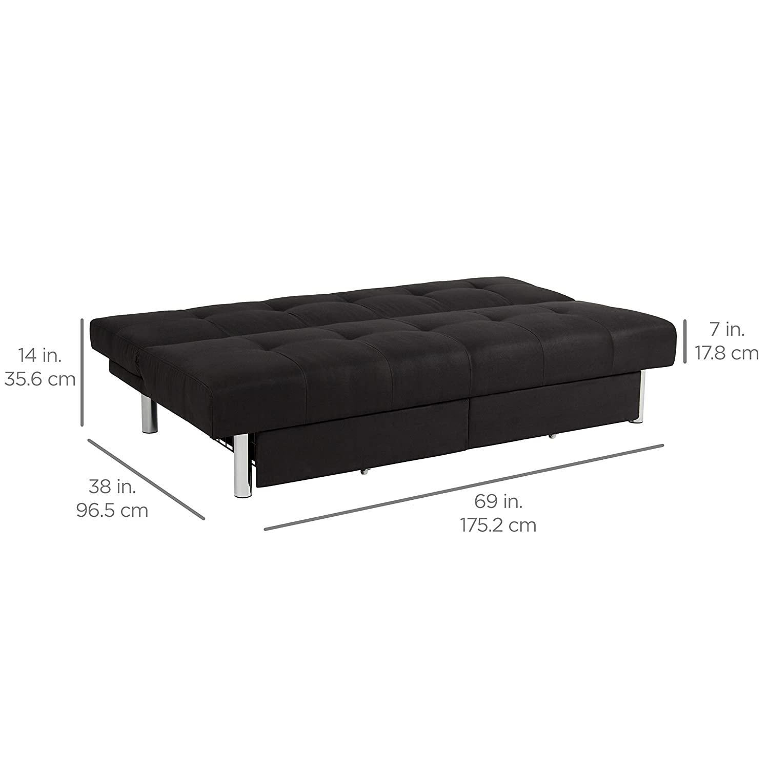 mattress size twin sale bed out convertible coil sofa leather sleeper itm pull couch