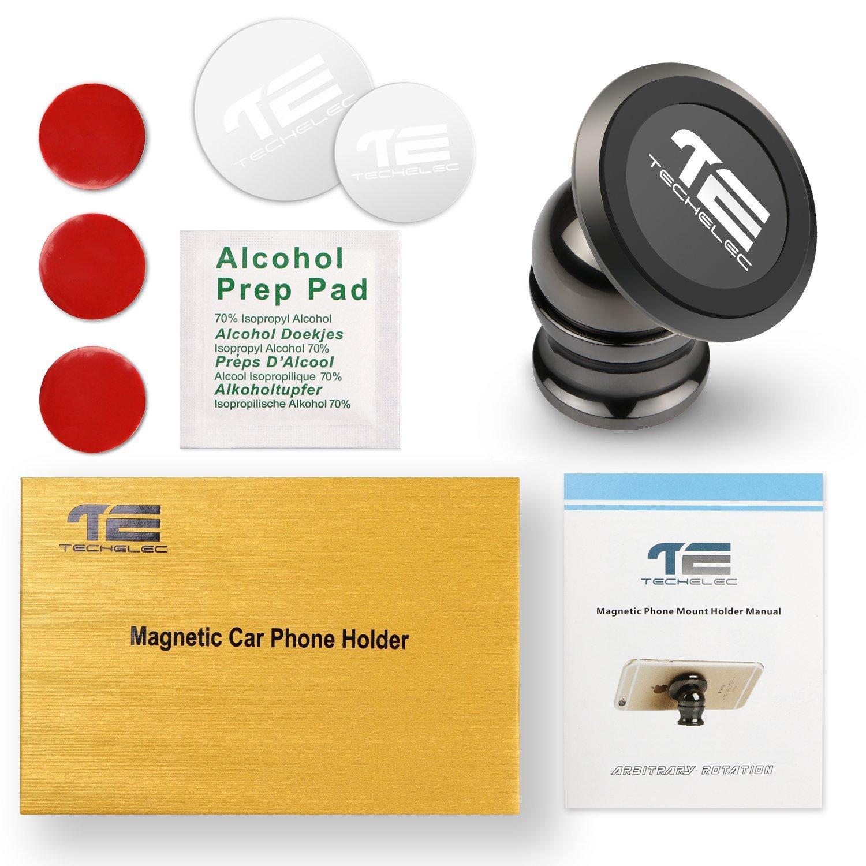 TechElec Auto Handyhalterung KFZ Magnet Halter 360 Grad Drehbare Klebrige Handy Halterung//Mount f/ür Galaxy S7 Note 5 und jedes andere Smartphone oder GPS
