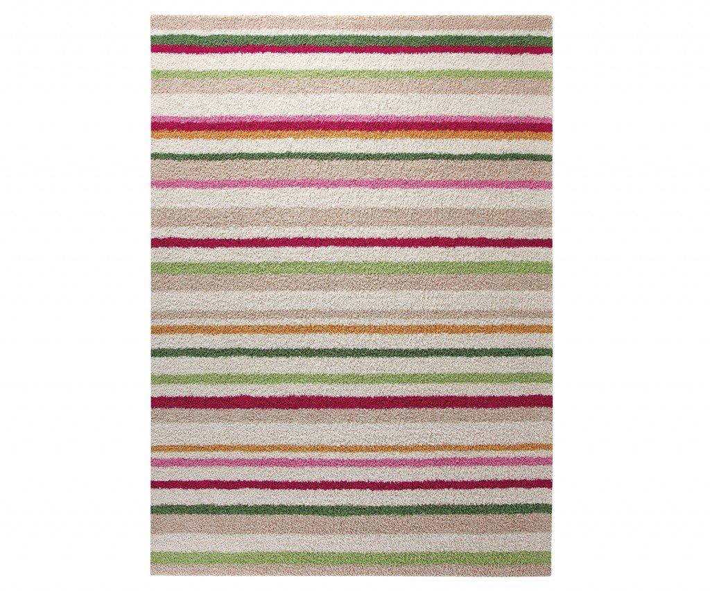 ESPRIT Funny Stripes Moderner Markenteppich - Polyacryl - Beige - 160 x 90 x 1.5 cm