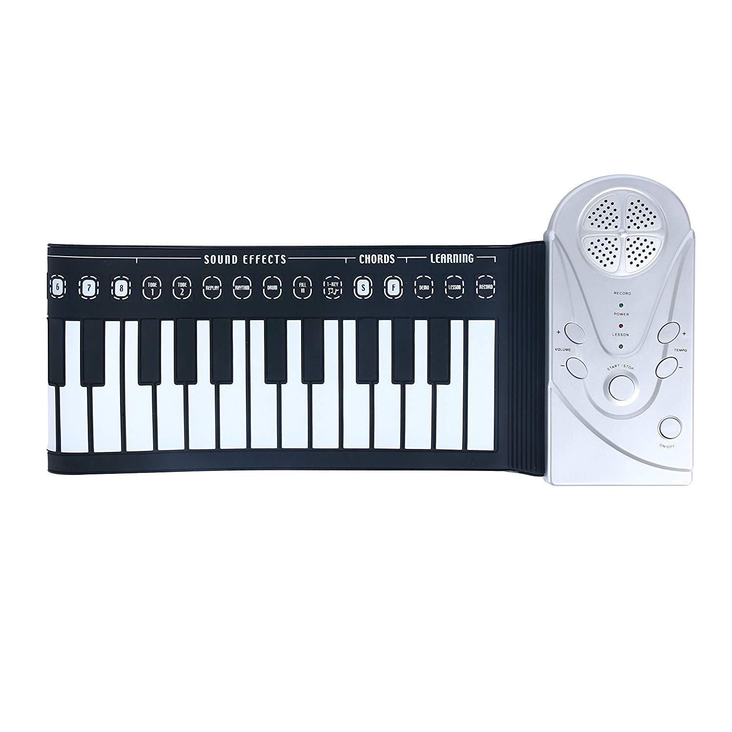 8milelake Portable Electronic Music Keyboard Piano, 49key Soft Flexible Children Kids Adults music keybord, Musical Teaching Keyboards for Beginner w/speaker (soft keyboard) freebirdtrading ZY0209