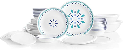 Blue//Turquoise Corelle 3320 Santorini Sky Dinner Set