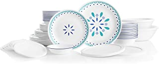 product image for Corelle Service for 12, Chip Resistant, Santorini Sky Dinnerware Set, 78 Piece