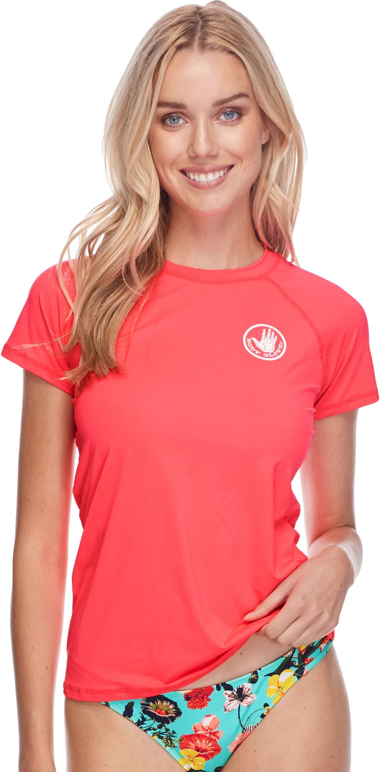 Body Glove Women's Smoothies in-Motion Short Sleeve Rashguard with UPF 50, Diva I, X-Small
