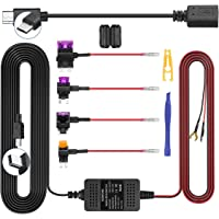 Dash Cam Hardwire Kit, Mini/Micro USB Hard Wire Kit 12V-24V to 5V Hardwire Kit with Low Voltage Protection 13ft Car Dash…