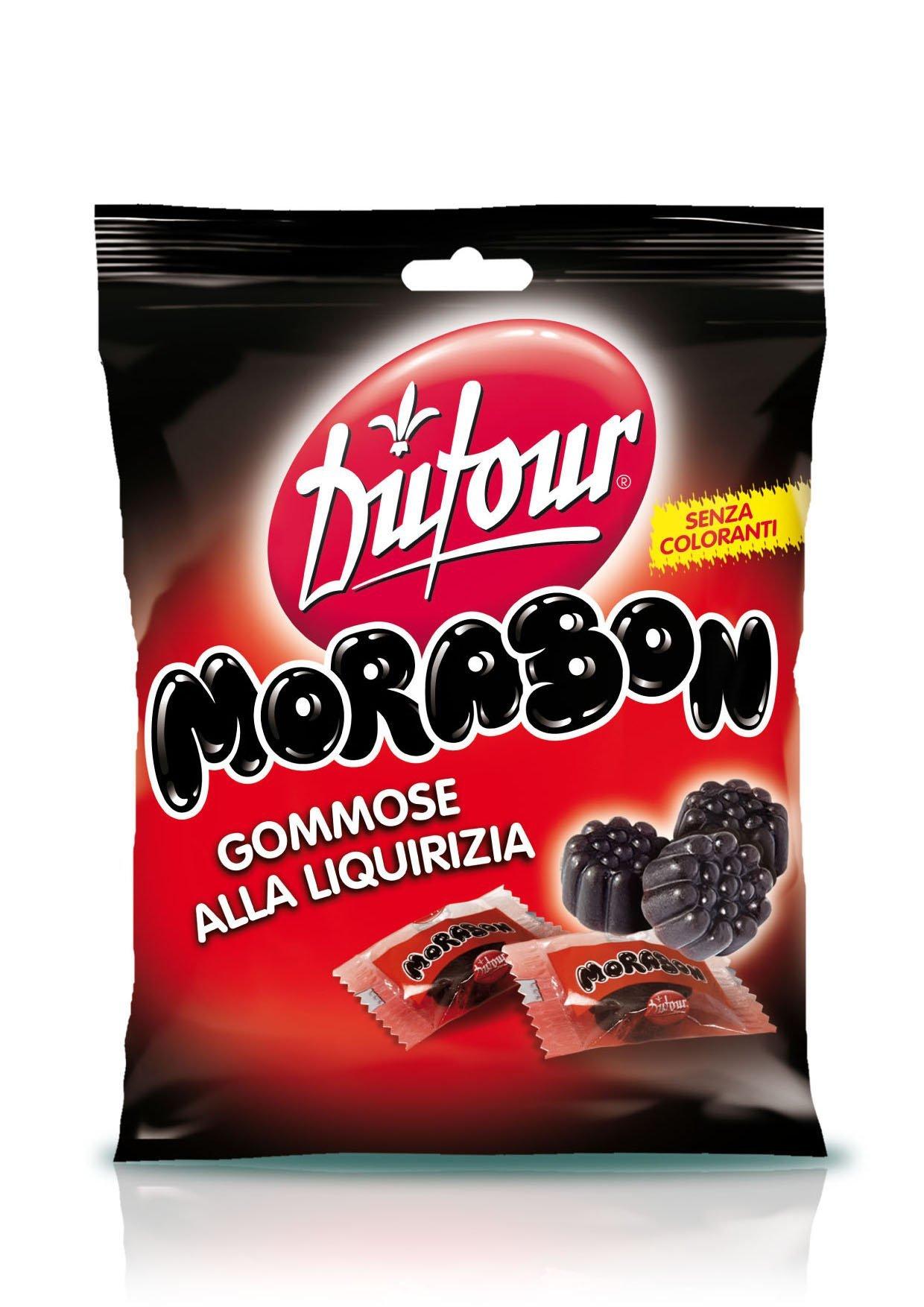 Dufour Morabon Licorice Gummies (12 x 6.35oz Bag)