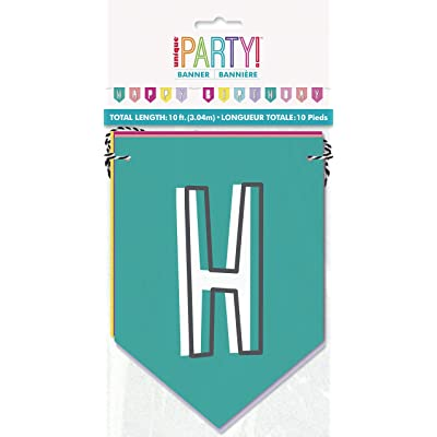 Favorite Things Birthday Pennant Banner, 10 ft, 2 pc: Toys & Games