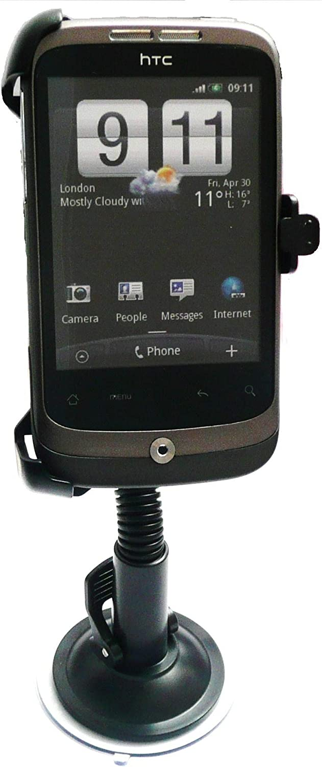 EMARTBUY DEDICATED SUCTION MOUNT CAR HOLDER//KIT MADE TO MEASURE FOR HTC WILDFIRE