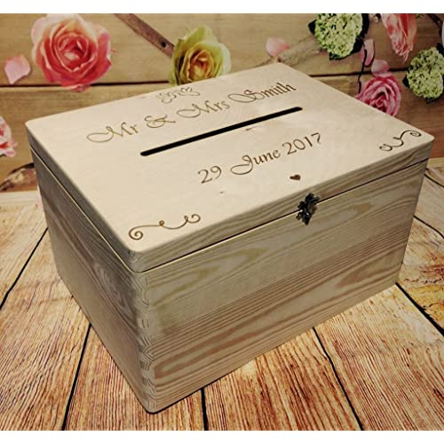 wedding guests wish post box wooden box with slot wedding cards envelopes drop in memory box