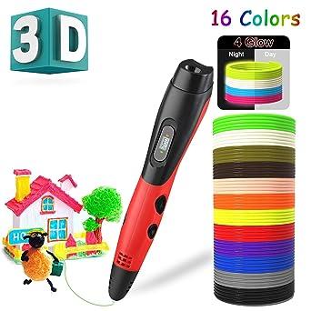 Amazon.com: Inkeeer - Bolígrafo 3D con 16 colores de ...