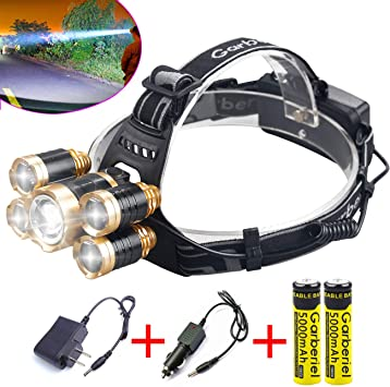 USB Rechargeable Cycling Bicycle T6 LED Head Light Headlamp Flashlight Torch SA