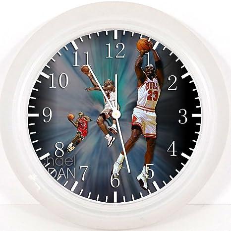 Reloj de pared Michael Jordan 25,4 cm se color y para pared ...