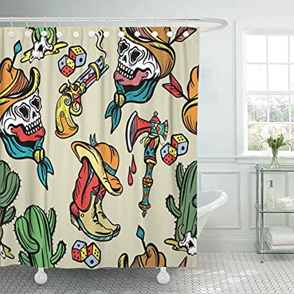 Shower Curtain Water Soap And Mildew Resistant Machine Washable Bathroom 72quotx72quot Set Wild