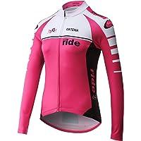 Catena Women's Cycling Jersey Long Sleeve Shirt Running Top Moisture Wicking Workout Sports T-Shirt