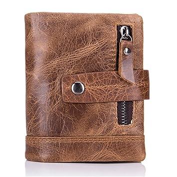 e112a29f2b1f3c Herren Geldbeutel, JOSEKO Vintage echt Leder Geldbörse mit Münzfach Herren  Portemonnaie Große Kapazität Brieftasche mit