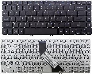 Laptop Keyboard New Laptop Keyboard (Without Frame) Replacement for Acer Aspire V5-431 V5-431G V5-431P V5-431PG V5-471 V5-471G V5-471P V5-471PG, US Layout Black Color