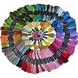 L de 50pcs Multicolore écheveaux Polyester Coton Fil à broder au point de croix Fil à coudre