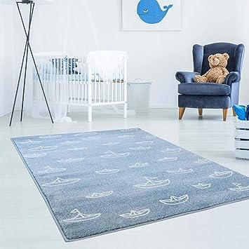 MyShop24h Kinderteppich Teppich Hochwertig mit Maritimen Muster ...
