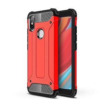 AOBOK Funda Xiaomi Redmi S2, Rojo Moda Armadura Híbrida Carcasa Shock Absorción Proteccion, Anti-Scratch, Funda Case para Xiaomi Redmi S2 Smartphone: ...