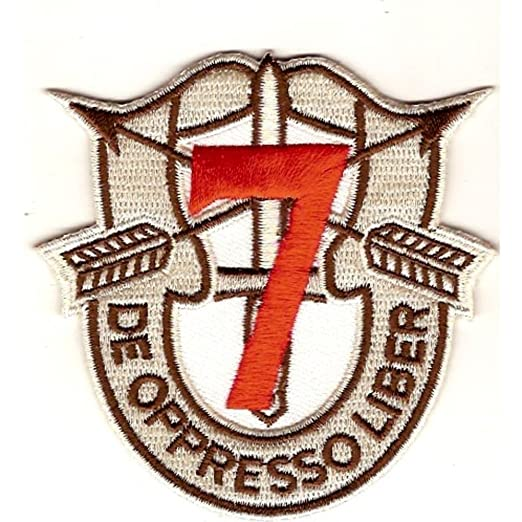 Amazon.com  7th Special Forces Group Crest Desert Red 7 Patch  Clothing 6da34ed4677
