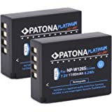 Patona Platinum (2x) Akku für Fujifilm NP-W126 NP-W126s (echte 1140mAh) zu Fujifilm FinePix HS50EXR HS30EXR HS33EX X100F X-A1 X-A2 X-A3 X-A5 X-A10 X-E1 X-E2 X-E3 X-ES2 X-H1 X-M1 X-Pro1 X-Pro2 X-T1 X-T2 X-T10 X-T20 X-T100
