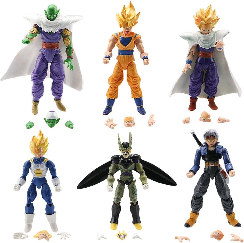 6pcs//set Dragon Ball Z Super Saiyan Goku PVC Action Figures Collectible Toy Gift