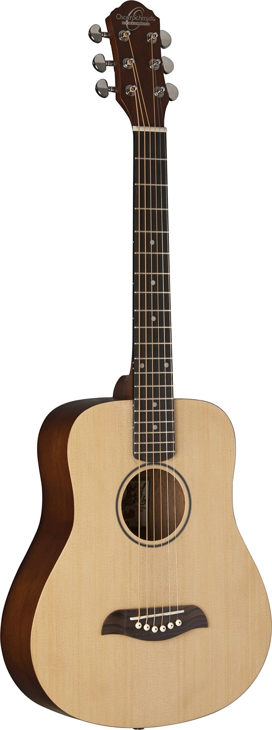 Oscar Schmidt Mini Travel Guitar, Spruce Top OGM8