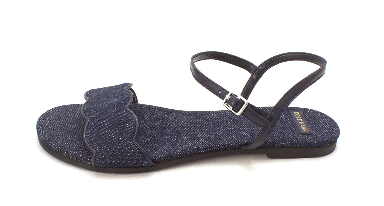 Cole Haan Womens Berthasam Open Toe Casual Ankle Strap Sandals Blue Size 60