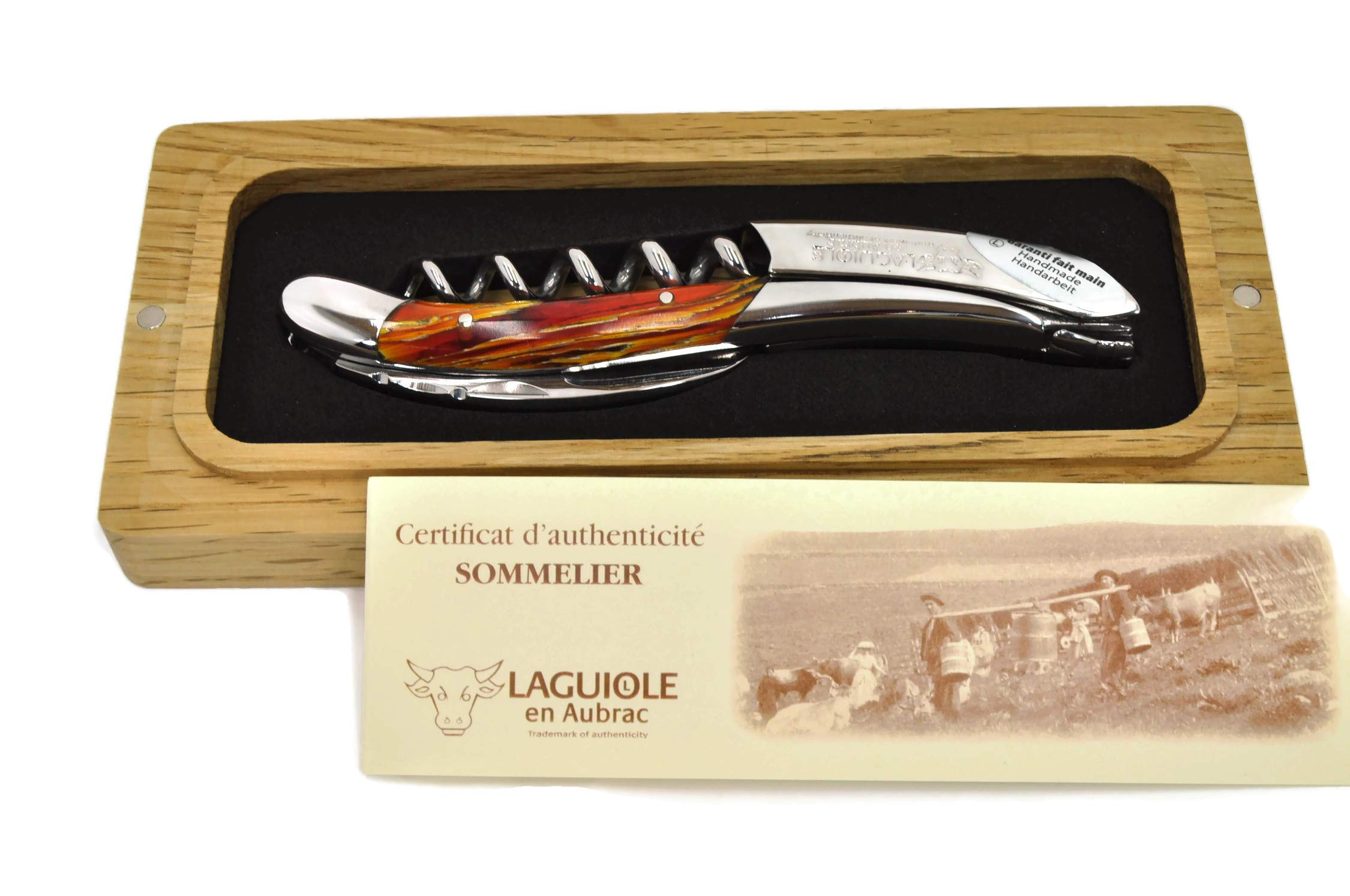 Laguiole an Aubrac Sommelier Waiter's Corkscrew with Yellow Reed Handle by Laguiole en Aubrac