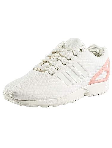 sale retailer d874b 2c581 adidas Damen Zx Flux W Laufschuhe, Mehrfarbig Off WhiteTrace Pink F17, 36