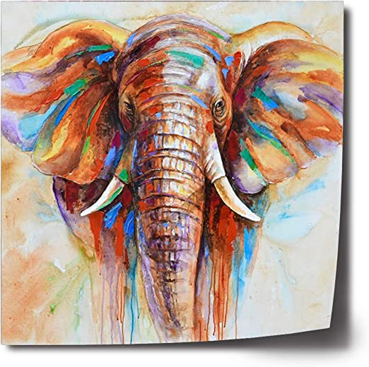 AFRICAN ANIMALS FAMILY DESIGN CANVAS PRINT PICTURE WALL ART HOME DECOR SET OF 4